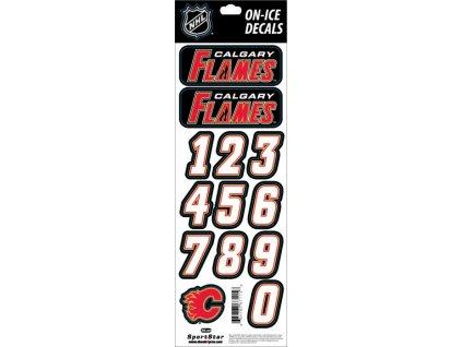 Samolepky na prilbu Calgary Flames Decals Black