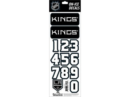 Samolepky na prilbu Los Angeles Kings Decals Black