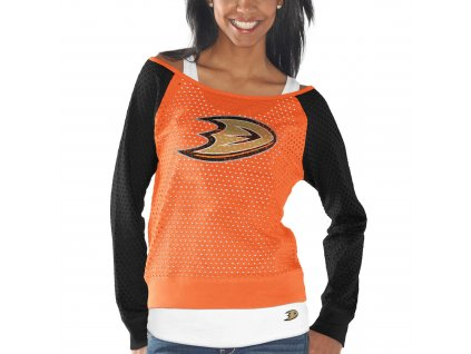 Set dámských triček Anaheim Ducks Holey Long Sleeve Top and Tank Top II Set