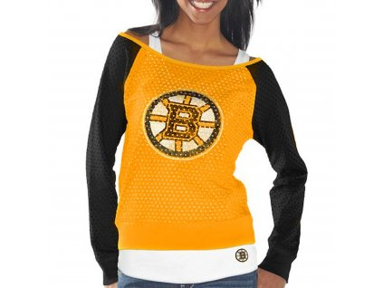 Set dámských triček Boston Bruins Holey Long Sleeve Top and Tank Top II Set