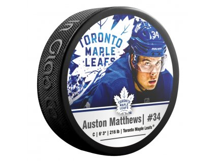 Puk Toronto Maple Leafs Auston Matthews #34 NHLPA