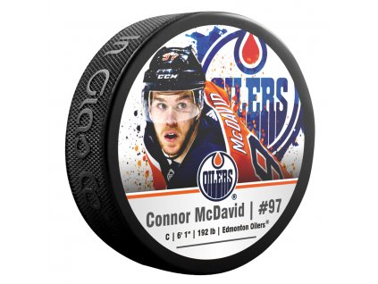 Puk Edmonton Oilers Connor McDavid #97 NHLPA