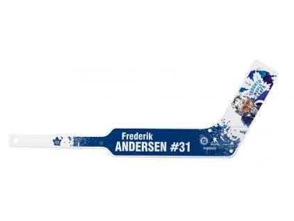Plastová Minihokejka Toronto Maple Leafs Frederik Andersen #31 NHLPA Player