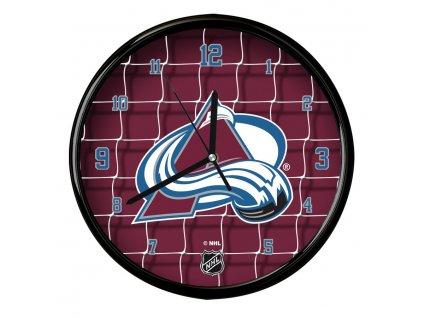 Nástenné Hodiny Colorado Avalanche Team Net Clock
