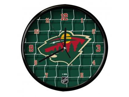 Nástenné Hodiny Minnesota Wild Team Net Clock