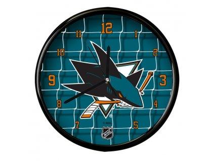 Nástenné Hodiny San Jose Sharks Team Net Clock