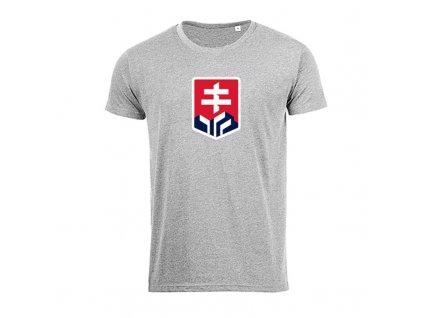 Detské tričko logo SVK - sivý melír