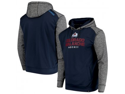 Mikina Colorado Avalanche Static Fleece Pullover Hoodie
