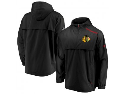 Bunda Chicago Blackhawks Authentic Pro Rinkside Anorak 1/4-Zip