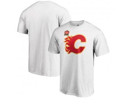 Detské Tričko Calgary Flames 2019 Heritage Classic Primary Logo White