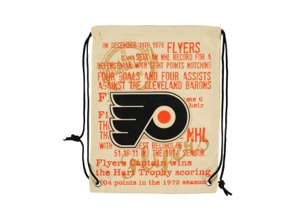 31618 nhl vak philadelphia flyers historic canvas drawstring