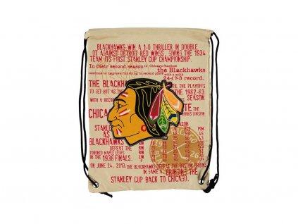 31612 nhl vak chicago blackhawks historic canvas drawstring