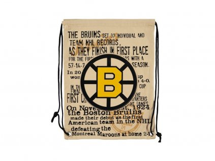 31621 nhl vak boston bruins historic canvas drawstring