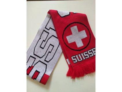 Šál pletený Švajčiarsko