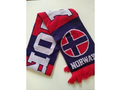Šál pletený Nórsko
