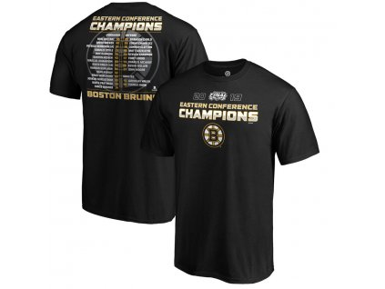 Tričko Boston Bruins 2019 Eastern Conference Champions Defender Roster T-Shirt – Black