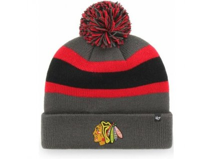 Zimná Čiapka Chicago Blackhawks 47 Breakaway Cuff Knit Charcoal