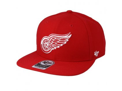 detroit red wings no shot 47 captain red snapback 47 brand