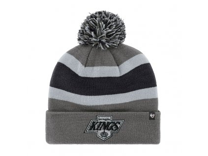 376270 zimni cepice 47 brand breakaway cuff knit nhl los angeles kings seda 73725