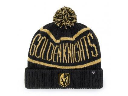 376231 zimni cepice 47 brand calgary cuff knit nhl vegas golden knights cerna 73738