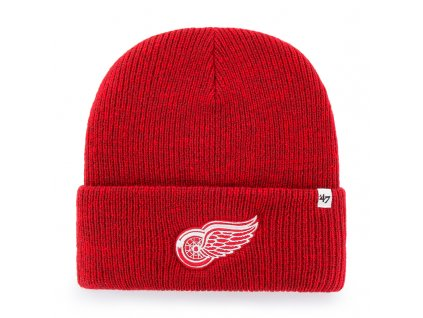 376446 zimni cepice 47 brand brain freeze cuff knit nhl detroit red wings cervena 73699