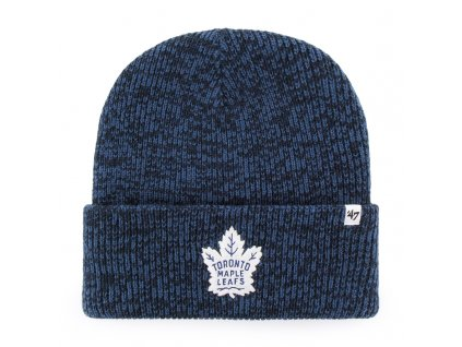 376437 zimni cepice 47 brand brain freeze cuff knit nhl toronto maple leafs tmave modra 73703