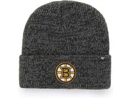 47 h brnfz01ace bk nhl boston bruins brain freeze 47 cuff knit 0