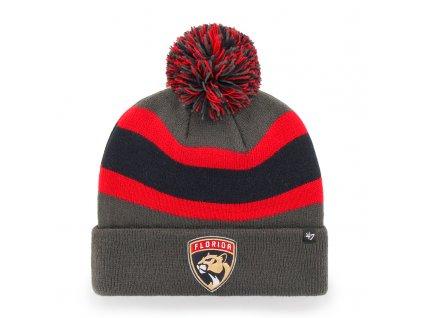 376276 zimni cepice 47 brand breakaway cuff knit nhl florida panthers seda 73722