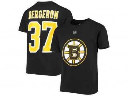 Detské Tričko Patrice Bergeron # 37 Boston Bruins Name Number