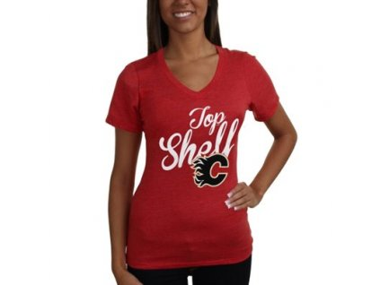 Tričko Calgary Flames Shelf Tri-Blend - dámské (Veľkosť XL)