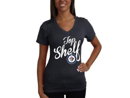 Tričko Winnipeg Jets Shelf Tri-Blend - dámské (Veľkosť XL)