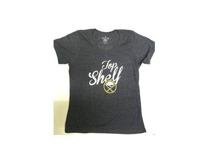 Tričko Buffalo Sabres Shelf Tri-Blend - dámské (Veľkosť L)