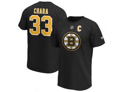 Tričko Zdeno Chara Boston Bruins Iconic Name & Number Graphic