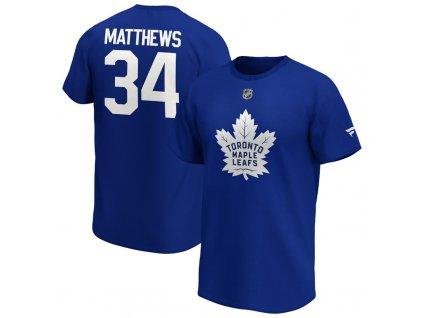 Tričko Auston Matthews Toronto Maple Leafs Iconic Name & Number Graphic
