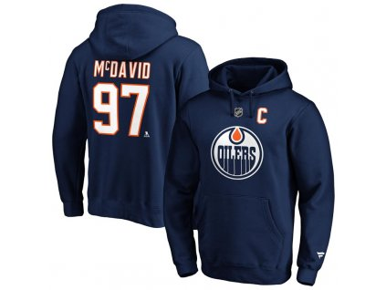 Mikina Connor McDavid Edmonton Oilers Iconic Name & Number Graphic