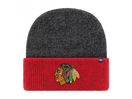 Zimní čepice Chicago Blackhawks Two Tone Brain Freeze '47 CUFF KNIT