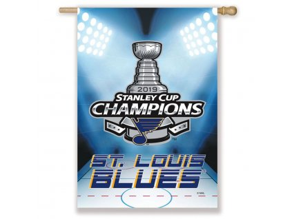 76424 vlajka st louis blues 2019 stanley cup champions double sided sublimated house flag