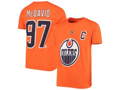 Detské Tričko Connor McDavid # 97 Edmonton Oilers Name Number
