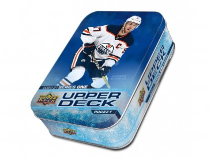 Hokejové Karty NHL 2020-21 Upper Deck Series 1 Hockey Tin Box