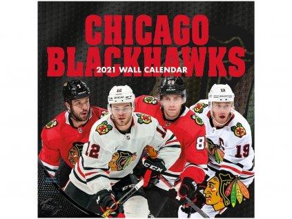 Kalendár Chicago Blackhawks 2021 Wall Calendar