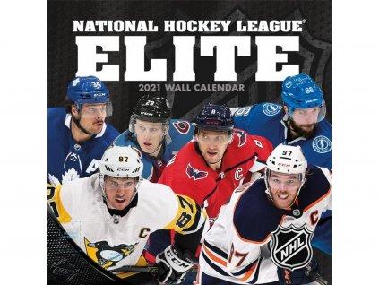 Kalendár Elitných Hráčov NHL Elite 2021 Wall Calendar