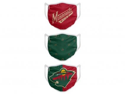 Rúška Minnesota Wild FOCO - set 3 kusy