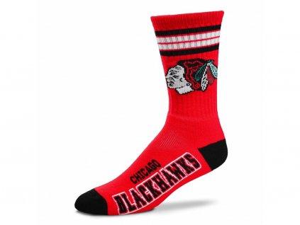 Detské ponožky Chicago Blackhawks 4 Stripes Crew