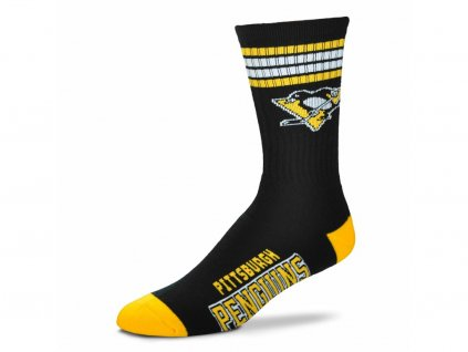 Detské ponožky Pittsburgh Penguins 4 Stripes Crew