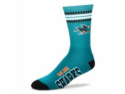 Detské ponožky San Jose Sharkss 4 Stripes Crew