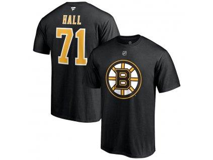 Tričko #88 Taylor Hall Boston Bruins Stack Logo Name & Number