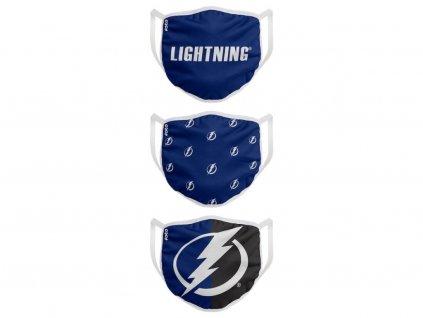 Rúška Tampa Bay Lightning Foco - set 3 kusy EÚ
