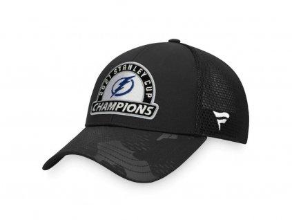 Pánská Šiltovka Tampa Bay Lightning 2021 Stanley Cup Champions Locker Room Adjustable Trucker