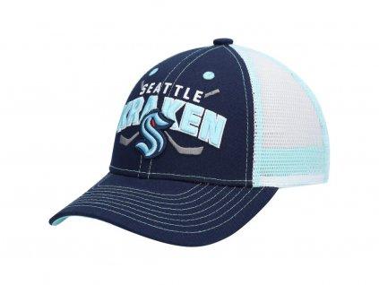 Detská Šiltovka Seattle Kraken Core Lockup Trucker Snapback Hat - Deep Sea Blue