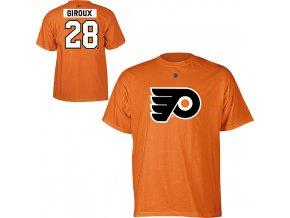 Tričko - #28 - Claude Giroux - Philadelphia Flyers - oranžové